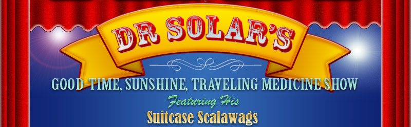 Dr Solar and His Suitcase Scalawags. Magic and Whimsical Puppetry for Children's Parties and Events